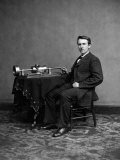 Thomas Edison, from photograph by Mathew Brady, Poster