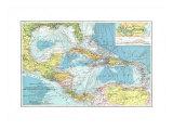 Central America, Cuba, Porto Rico, And The Islands Of The Caribbean Sea Plakater