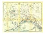 1914 Alaska Map Art