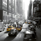 Sunset on Broadway, New York Print by Dominique Obadia