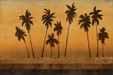 Sunset Palms II Prints by Cheryl Martin