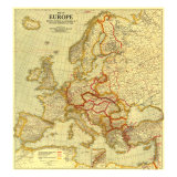 Europe Map 1921 Plakat af National Geographic Maps
