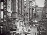 Powell Street in San Francisco, c.1950 Kunstdrucke