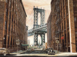 View to the Manhattan Bridge, New York City Affiches par Matthew Daniels