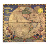 1929 Map of Discovery, Western Hemisphere Poster av  National Geographic Maps