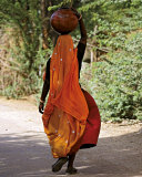Woman Carrying a Jar, India Prints by Paule Seux