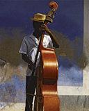 Double Bass Player, Cuba Affiches par Angelo Cavalli