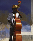 Double Bass Player, Cuba Prints by Angelo Cavalli