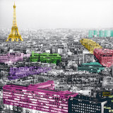 Eiffel Colours Prints by Anne Valverde