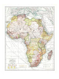 Africa Map 1909 Lámina por National Geographic Maps