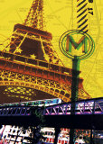 Tour Eiffel, Paris Poster by Maryse Guittet
