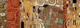 Deco-Collage (Die Erfüllung - Stoclet-Fries) Poster von Gustav Klimt