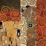 Deco Collage Detail (from Fulfillment, Stoclet Frieze) Poster von Gustav Klimt