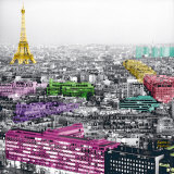 Eiffel Colours Art by Anne Valverde