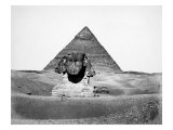 The Great Pyramid of Cheops and the Sphinx, 1880 Posters