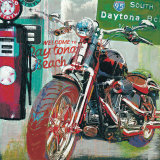 Daytona Beach Print by Ray Foster
