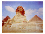The Sphinx of King Khafre, Iv Dynasty, 2500 B.C. in Front of the Pyramids of Gazeh Photo