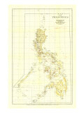 1905 Philippines Map Wall Art