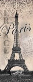 Eiffel Tower Art by Todd Williams