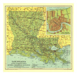 1930 Louisiana Map Prints