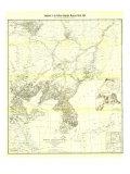 1904 Korea and Manchuria Map Print
