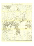1904 Korea and Manchuria Map Print by  National Geographic Maps
