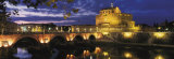 Castel Sant'Angelo at Night, Rome Posters par Murat Taner