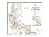 1902 Philippines Military Telegraph Lines North Map Posters
