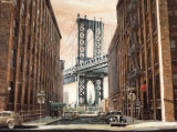 View to the Manhattan Bridge, New York City Affiche par Matthew Daniels