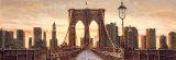 Manhattan Evening Poster by Matthew Daniels