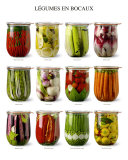 Vegetables in Jars Kunstdrucke