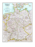 1991 Germany Map Plakat af  National Geographic Maps