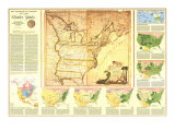 1987 Territorial Growth of the United States Map Print by  National Geographic Maps