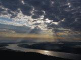 Early morning sunlight illuminates the Paraguay River at Asuncion, Photographic Print