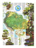 Amazonia, A World Resource at Risk Map 1992, Giclee Print