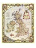 1949 British Isles Map Poster
