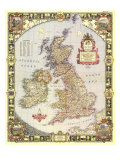 British Isles Map 1949 Poster