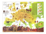 1977 Celtic Europe Map Posters