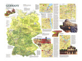 Travelers Map of Germany 1991 Posters