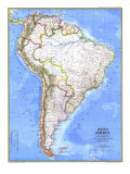 South America Map 1972 Posters