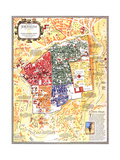 1996 Jerusalem, the Old City Map Poster