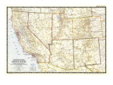 Southwestern United States Map 1948 Posters