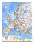 1977 Europe Map Poster by  National Geographic Maps
