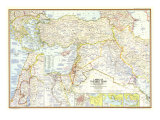 1967 Lands of the Bible Today Map Prints