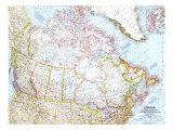 1961 Canada Map Prints