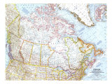 1961 Canada Map Prints by  National Geographic Maps