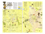 1980 Visitors Guide to the Aztec World Map Posters