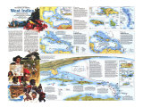 West Indies Map Poster, 1987, side 2