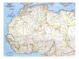 1966 Northwestern Africa Map Kunstdrucke von  National Geographic Maps