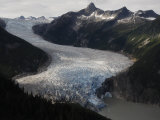 Taku Glacier is the largest glacier in the Juneau Icefield Fotografisk tryk af Melissa Farlow